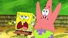 Spongebob and pat scare at poster