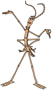 George as a walking stick