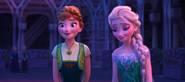Anna and elsa are happy again