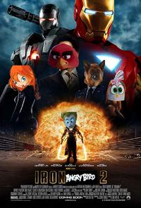 Iron-Angry Bird 2 (Iron Man 2) (Poster)