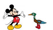 Mickey meets mallard