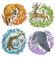 Elemental Animals by KatieHofgard