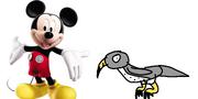 Mickey meets Peregrine Falcon