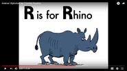 R is for Rhinoceros