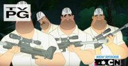 Zookeepers in Looney tunes show