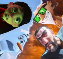(Conflict) Violet Parr and Olaf vs Chester V and Justin Pin