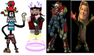 Mr. Devious Diesel as Admiral Razorbeard, Ben Ravencroft as Specter, Dr. Eggman as Erol, and Prince Charming as Drek.