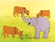 Richard Scarry Elephant and Cattle