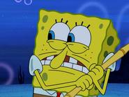 Spongebob scares a creature