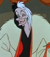 Cruella De Vil in One Hundred and One Dalmatians