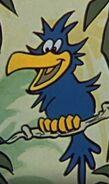 Blue-bird-with-yellow-long-beak-from-bamse