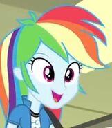 Human Rainbow Dash Happy