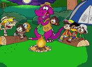 Barney and Dora's Campfire Sing-Along