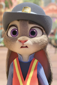 Judy sees nick climbs down from the roof