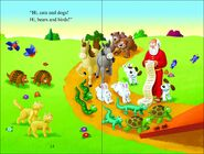 Noah's Ark Cats Rattlesnakes Lizards Tortoises Robins Turtles Rabbits Horses Butterflies Hippos Rhinos Hyenas Anteaters Aardvarks Camels Dogs and Bears