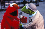 Reporter Kermit and Elmo-Ss20yrs4