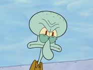Squidward very mad