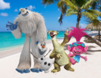 Migo, Olaf, Sid and Poppy
