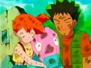 Misty with Brock and Porygon