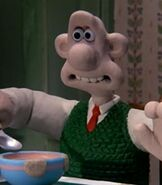 Wallace in the Wallace & Gromit Shorts