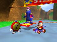 Diddy Kong Racing 64 diddy taj and tt