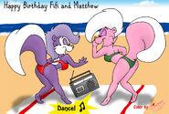 Fifi and bimbette in bikinis are shaking 2 by bimbetteskunk-d3dh8ba