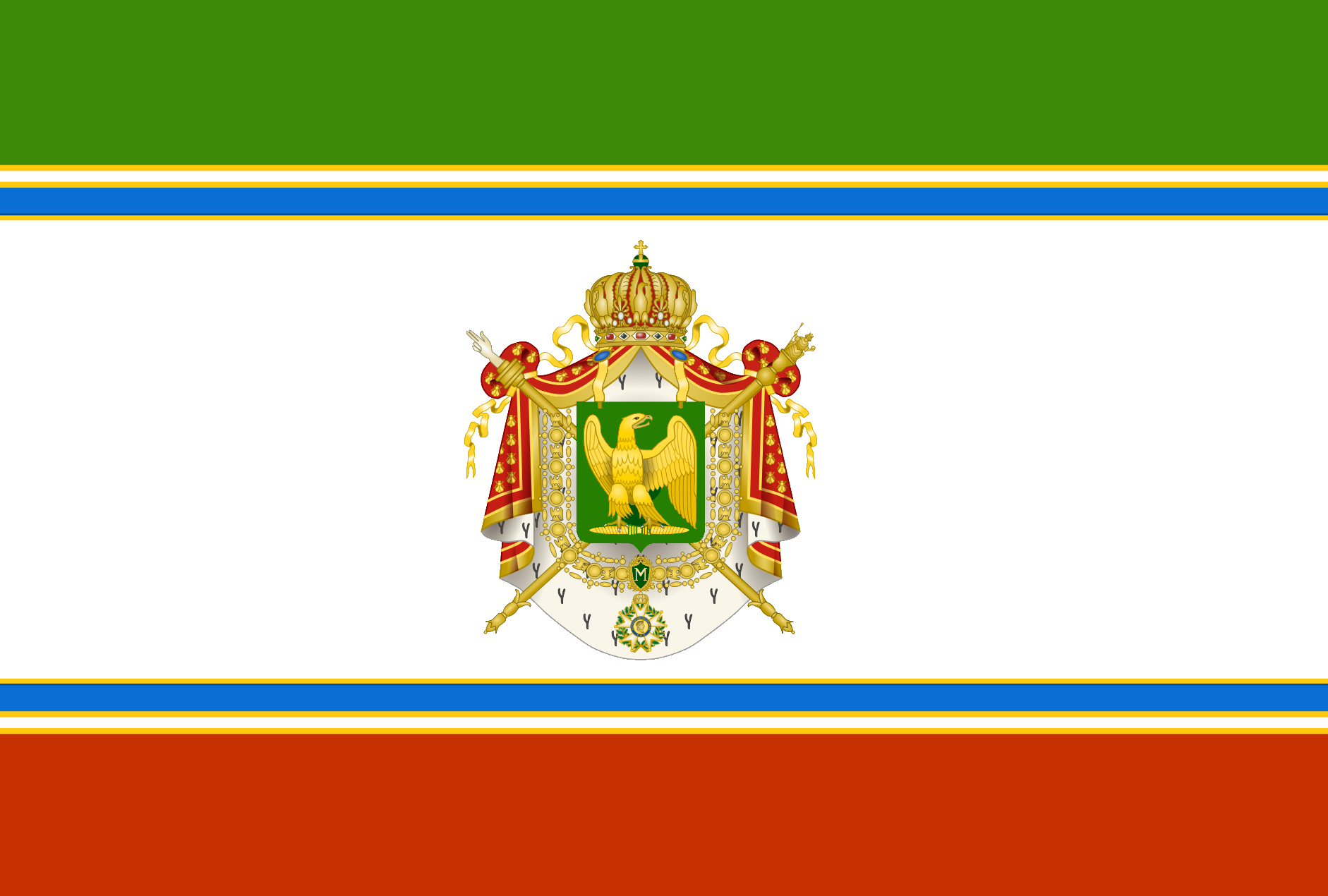 The Flag of the Impero Istaliano (Istalia)