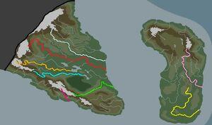 Istalian rivers