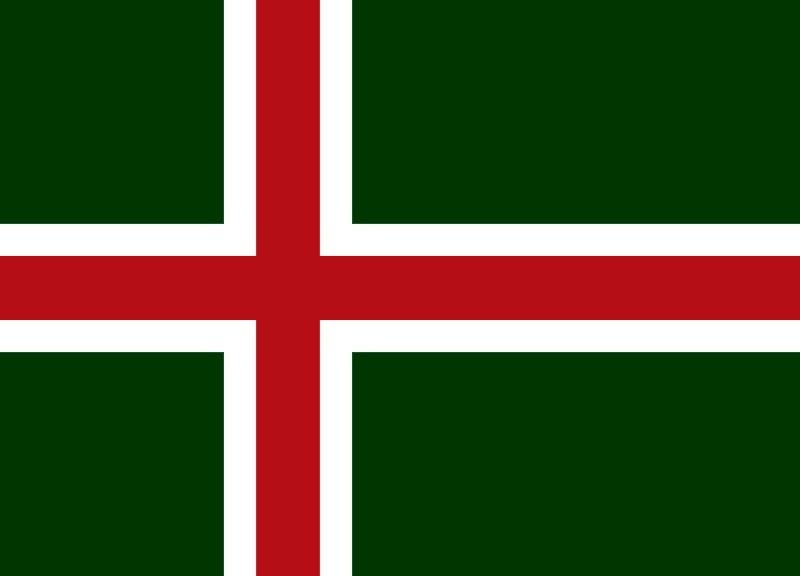 The Flag of the Kongeriket Kazulmark (Kazulia)