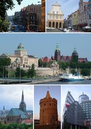 Collage of Szczecin