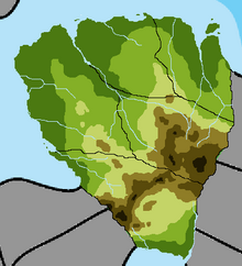 Geographic map of Kizenia