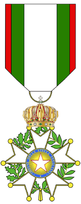 Badge with ribbon of the Order of the Istalian Star