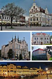 Collage of views of Rzeszów, Poland