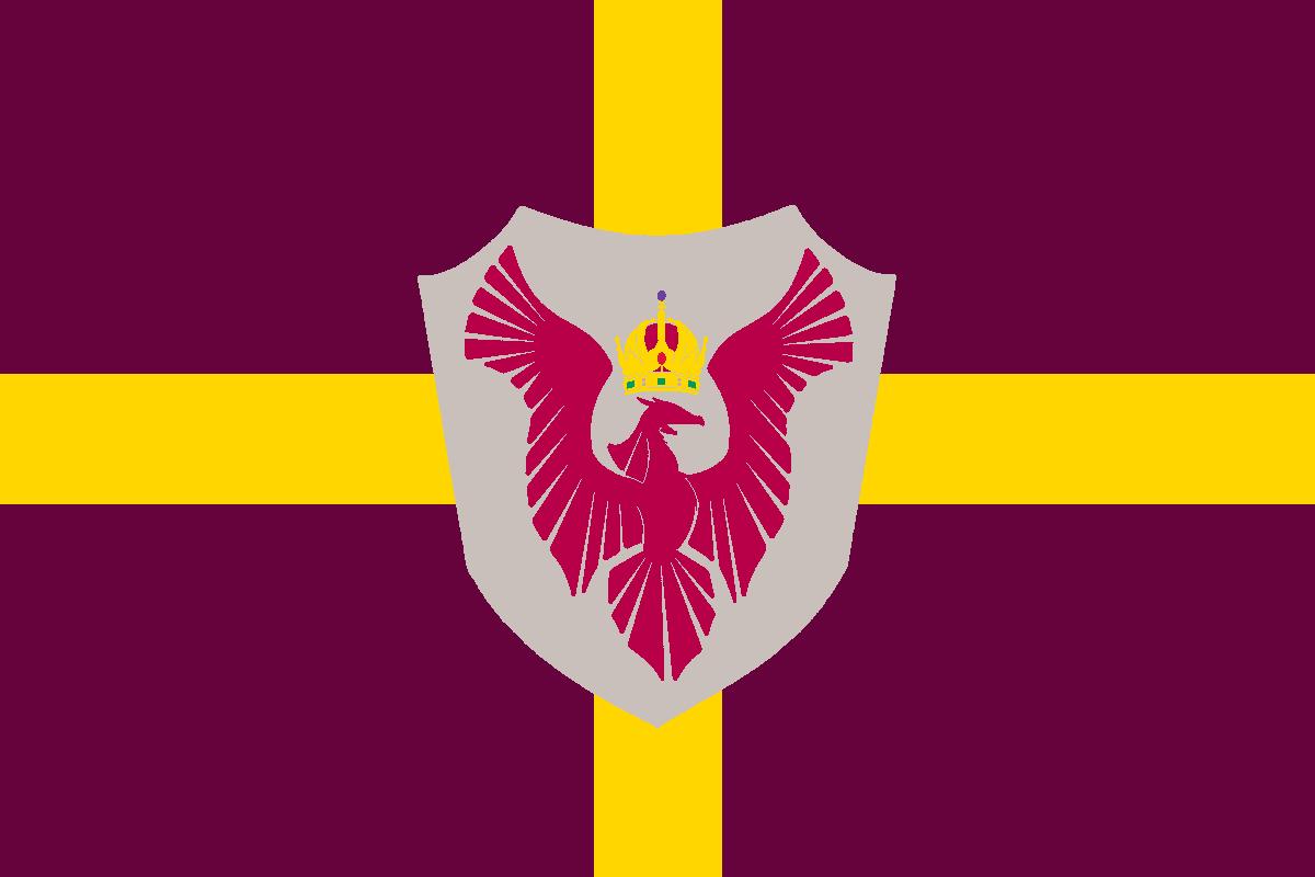The Flag of the Kaiserlich Kronländer von Hulstria (Imperial Crown Lands of Hulstria)
