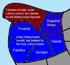 Beiteynu-Luthori War Map