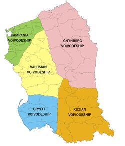 Vlaruzia Subdivisions