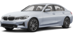 2019-BMW-3 Series-silver-full color-driver side front quarter