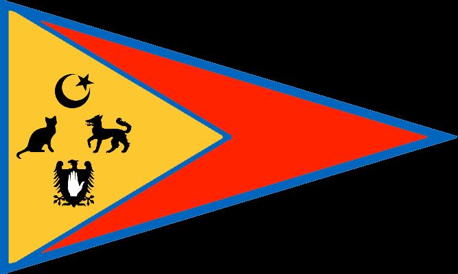 The Flag of the Jrlijé Ám'ádsrlji Sltnknstat Brmestán (Thallerid Ahmadi Sultanate of Barmenistan)