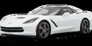 2019-Chevrolet-Corvette-white-full color-driver side front quarter