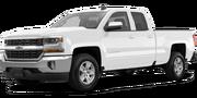 2019-Chevrolet-Silverado 1500-white-full color-driver side front quarter