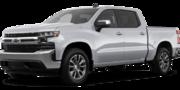 2019-Chevrolet-Silverado 1500-silver-full color-driver side front quarter