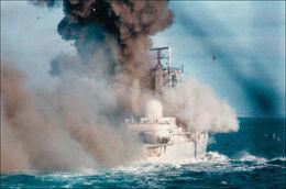 Damaged Ship