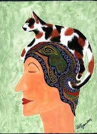 Womanwithcatonhead