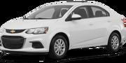 2019-Chevrolet-Sonic-white-full color-driver side front quarter