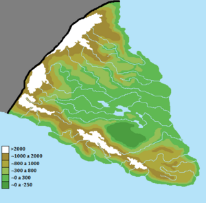 Sarrentina Peninsula Physical Map