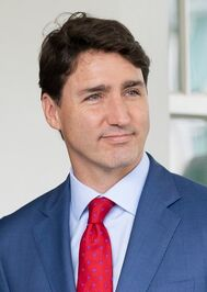 Trudeau visit White House for USMCA (cropped)