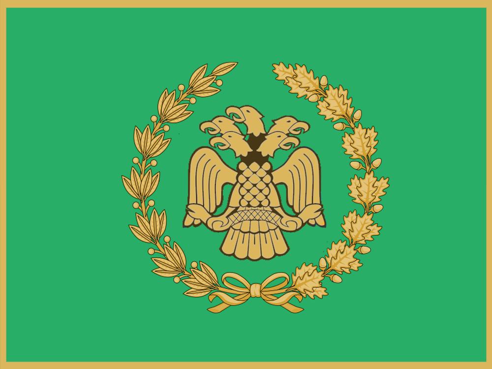 The Flag of the Jemhewra-ye Aldegār (Republic of Aldegar)