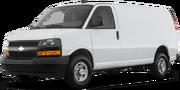 2018-Chevrolet-Express Cargo Van-white-full color-driver side front quarter