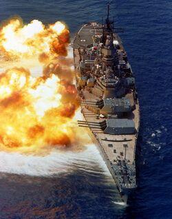 Hutorian ship firing broadside