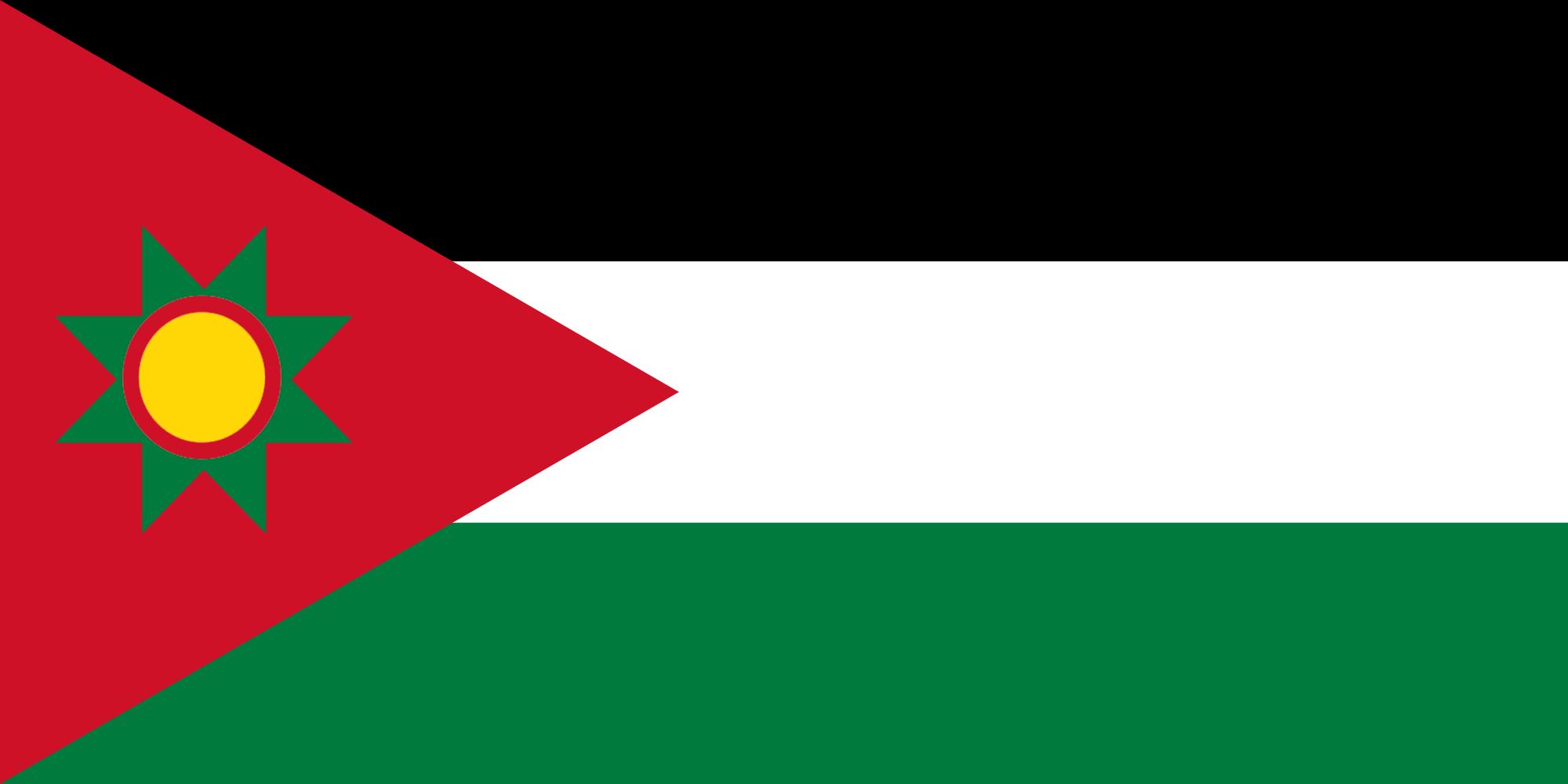 The Flag of the al-Jumhuriat al-Ahmadi al-Sahil (Solentia)